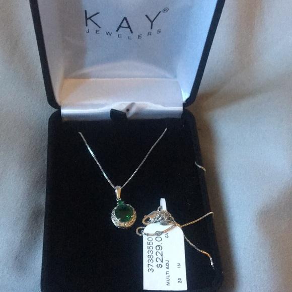 c89f2dc78 Kay Jewelers Jewelry | Final Salelab Created Emerald Sterling Silver ...